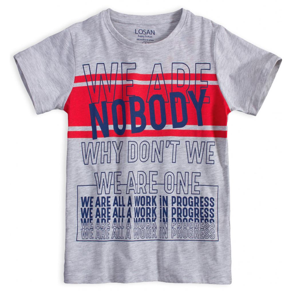 Chlapecké tričko LOSAN NOBODY šedý melír