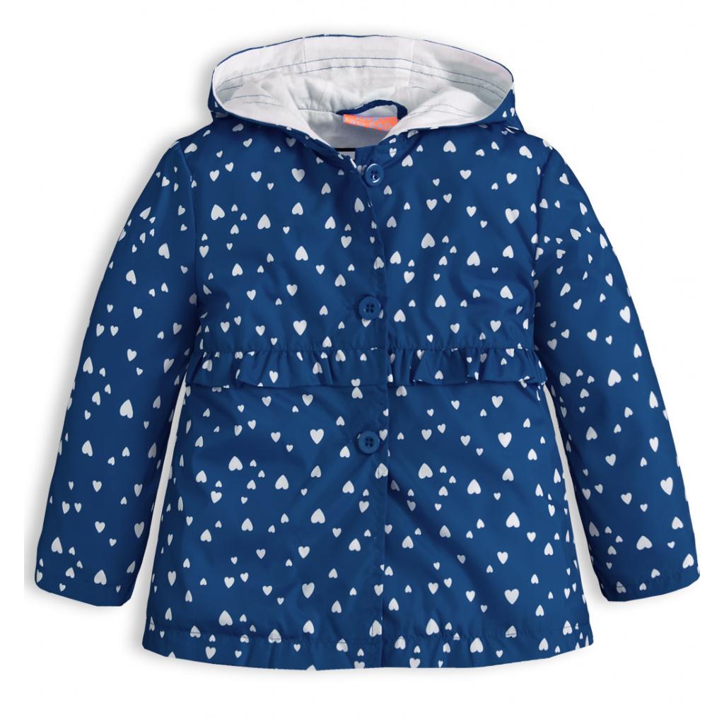 Dívčí jarní bunda KNOT SO BAD SRDÍČKA modrá