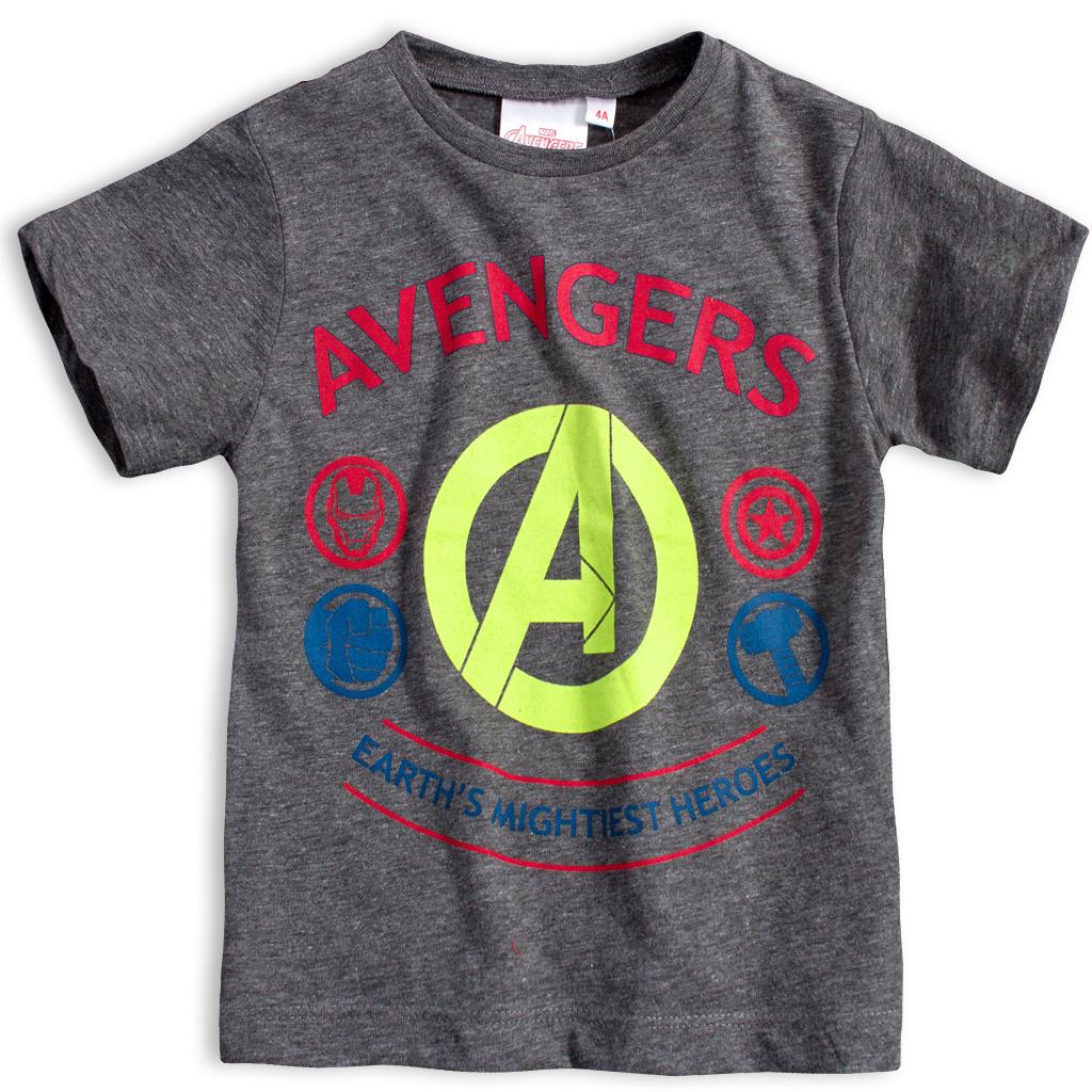 Chapecké tričko AVENGERS HEROES šedé