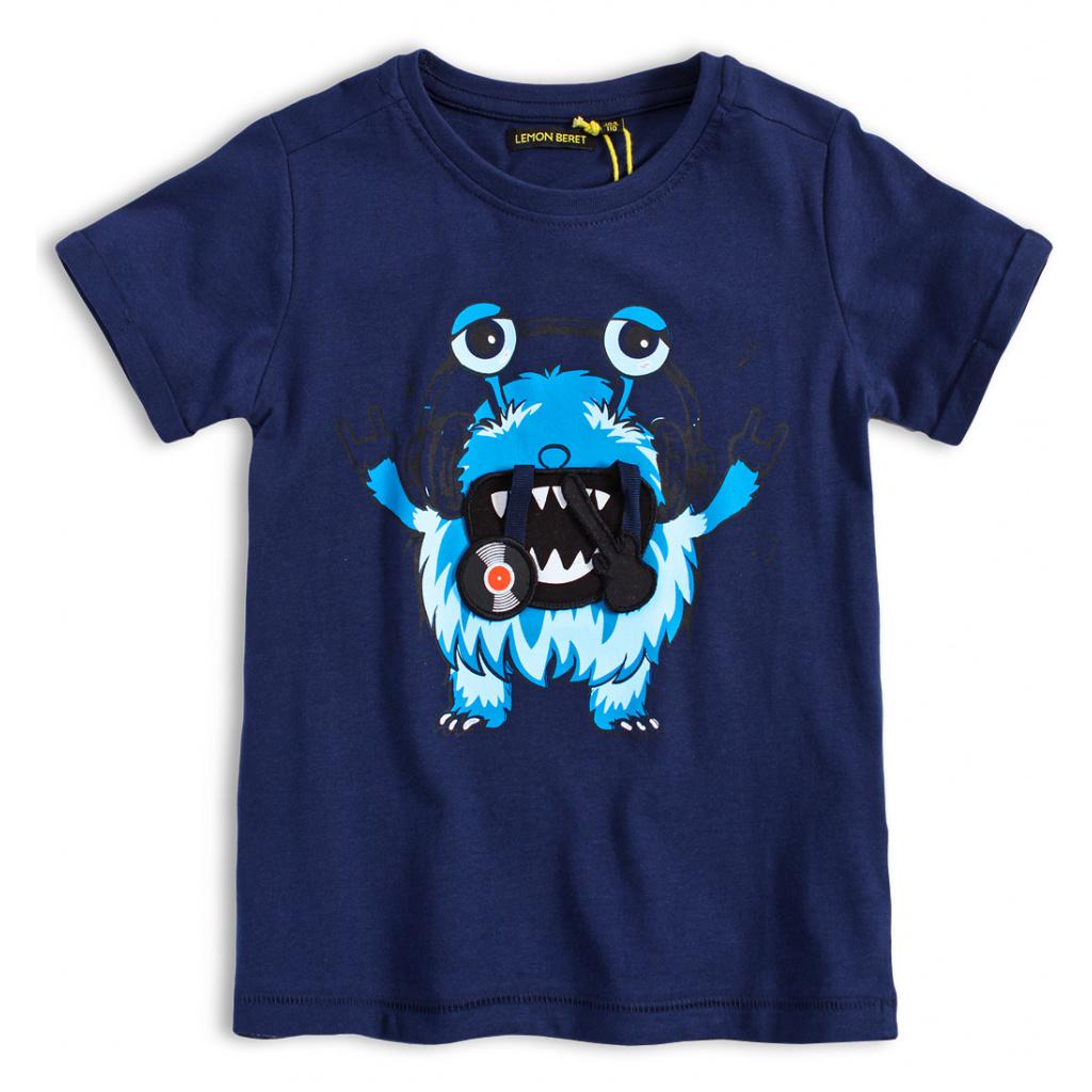 Chlapecké tričko LEMON BERET MUSIC MONSTER modré