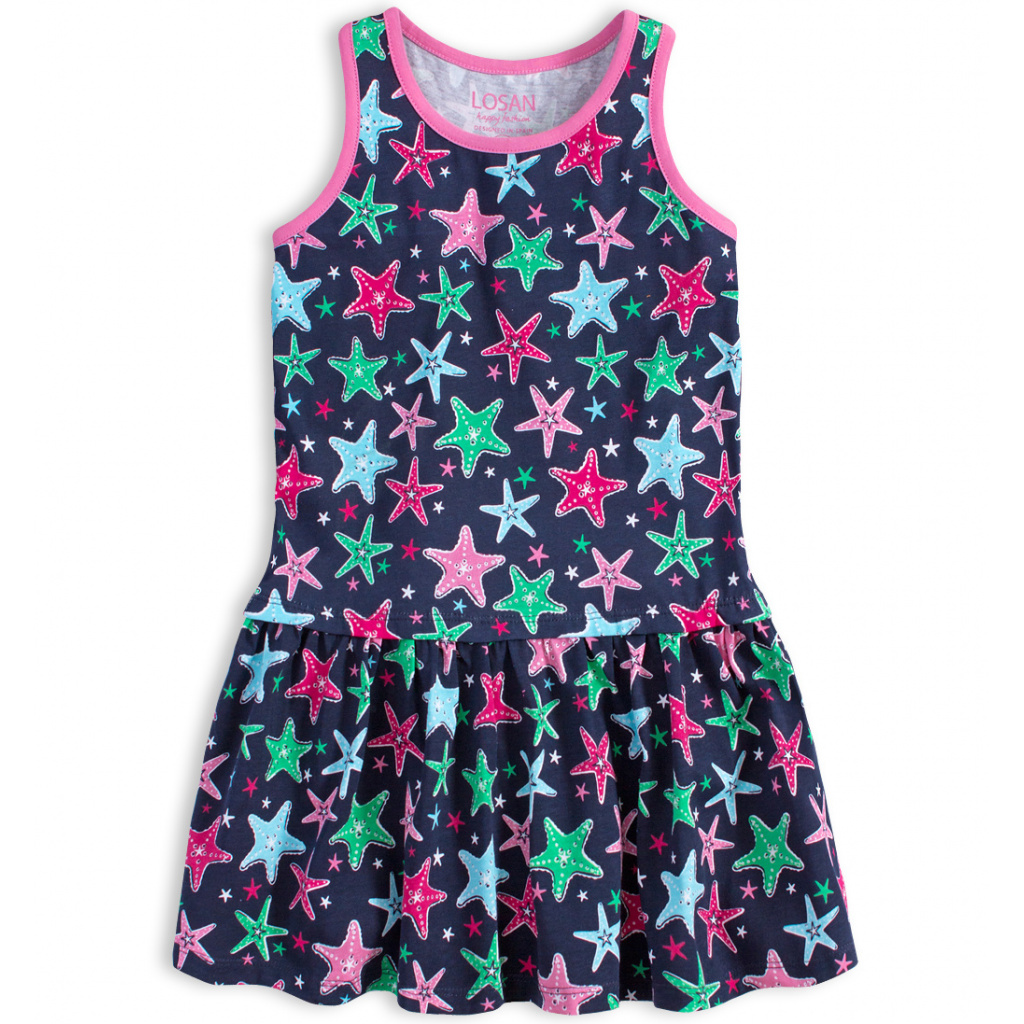 Dívčí šaty LOSAN HVĚZDICE modré