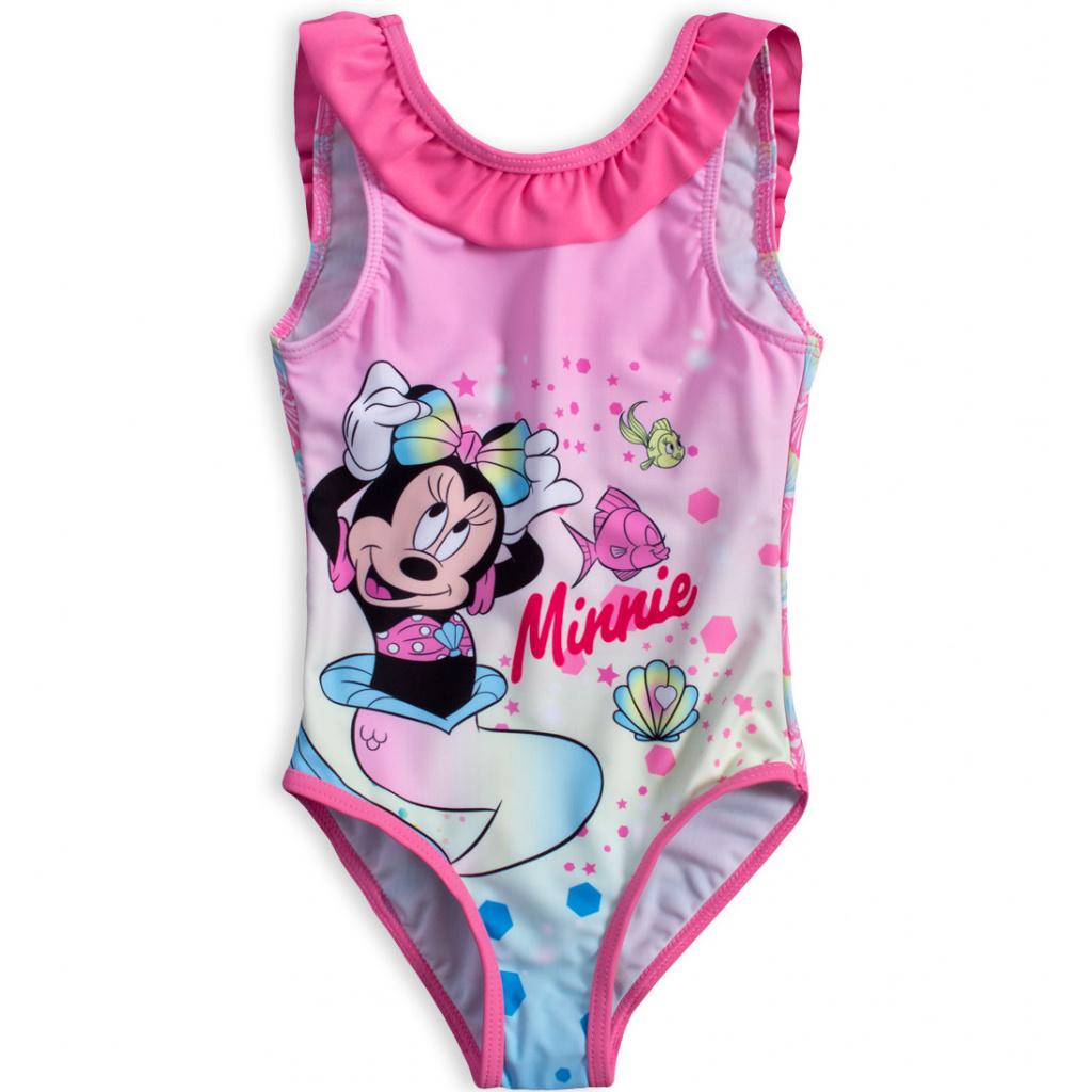 Dívčí plavky DISNEY MINNIE SEA růžový volán