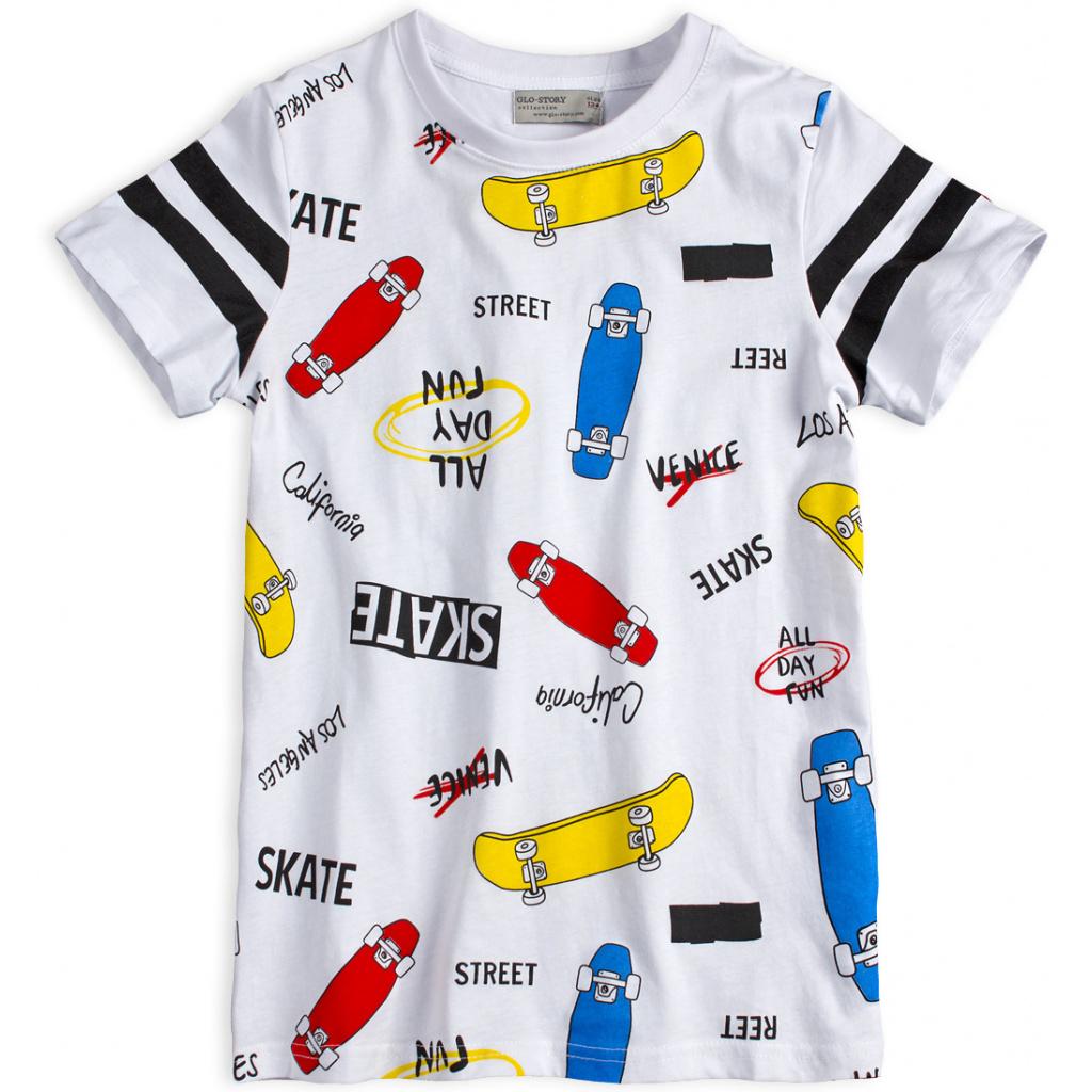 Chlapecké tričko GLO STORY SKATEBOARDY bílé