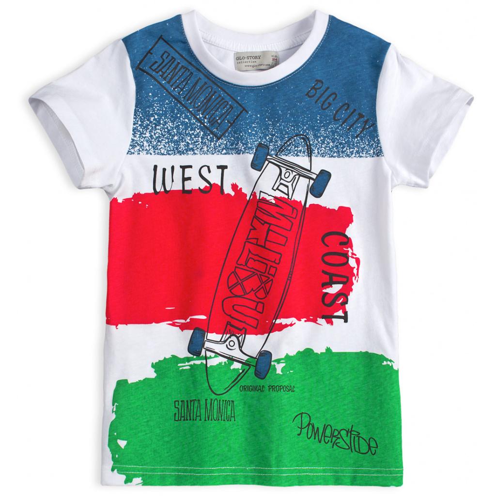Chlapecké tričko GLO STORY SKATE zelený pruh