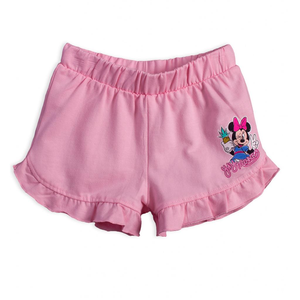 Dívčí šortky DISNEY MINNIE YAY světle růžové
