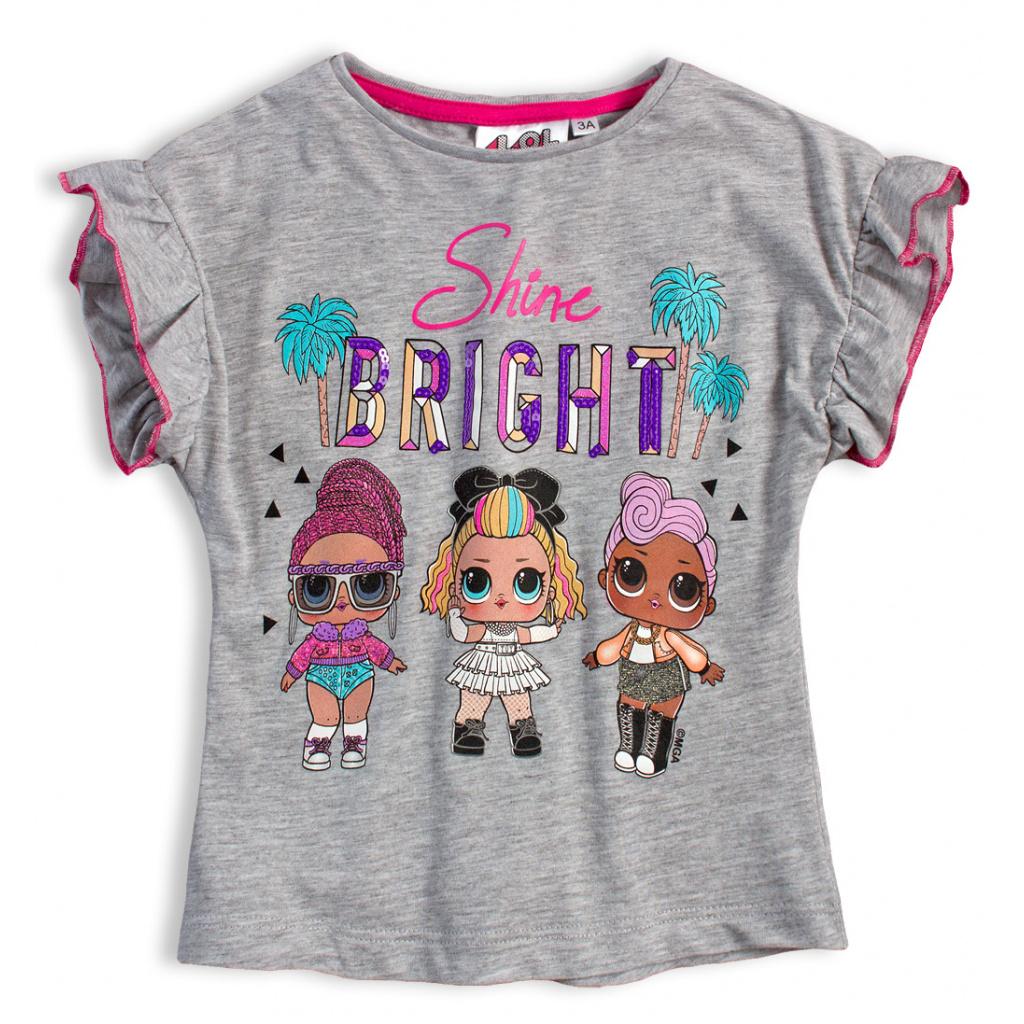 Dívčí tričko LOL SURPRISE BRIGHT šedé