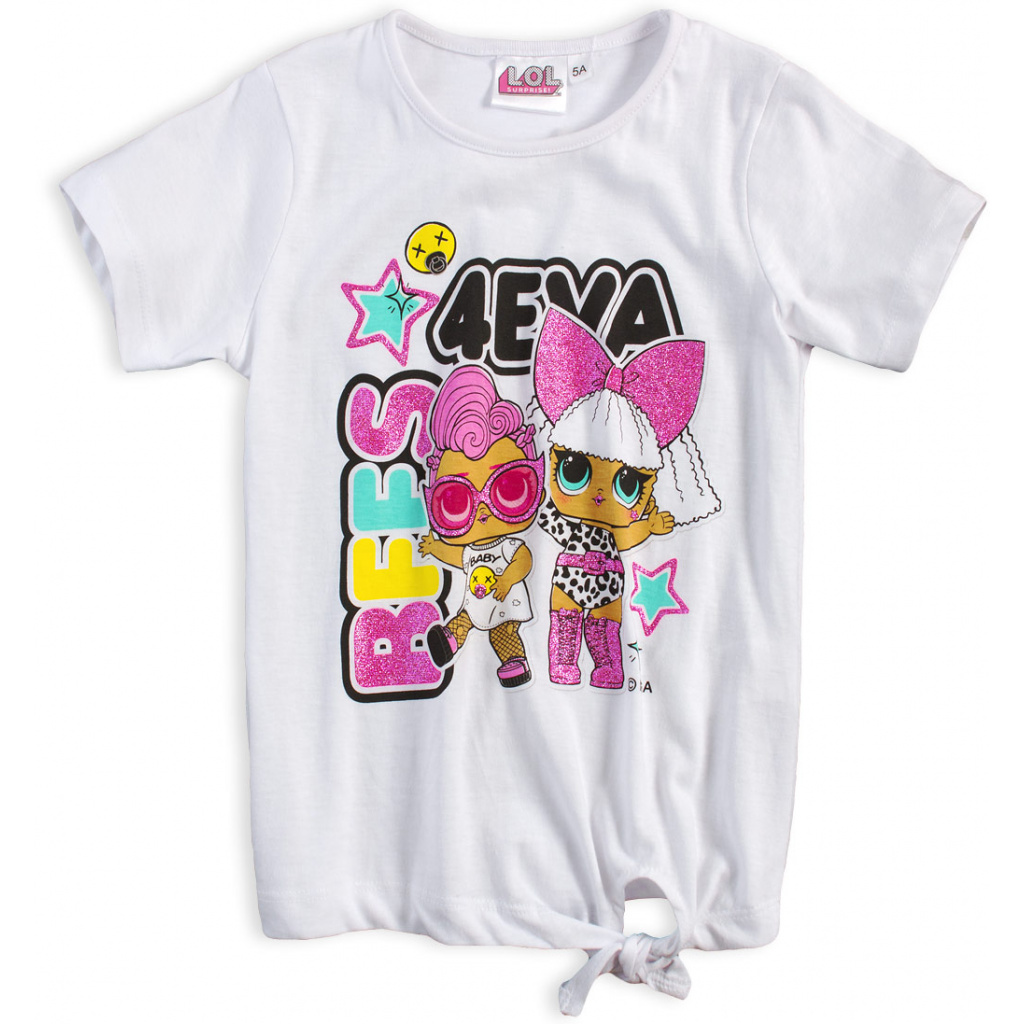 Dívčí tričko LOL SURPRISE BEST 4EVA bílé