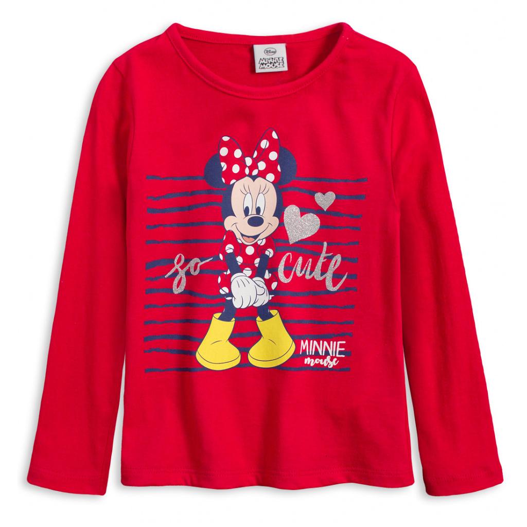 Dívčí tričko DISNEY MINNIE CUTE červené