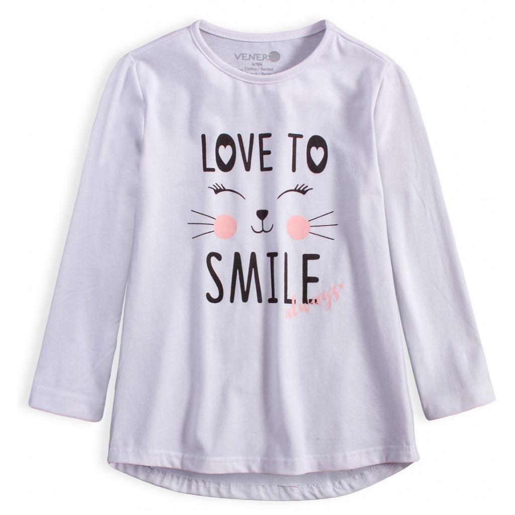 Dívčí tričko VENERE SMILE bílé