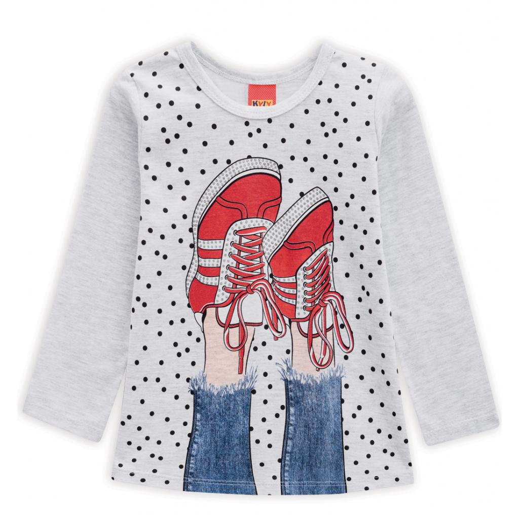 Dívčí tričko KYLY BOTY šedý melír