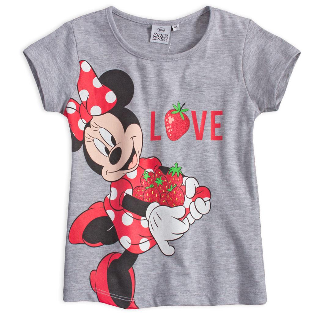 Dívčí tričko Disney Minnie Jahoda šedé