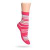 Dětské ponožky ABS vzor PROUŽKY růžové