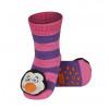 Ponožky s chrastítkem TUČŇÁK růžové