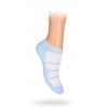 Dětské kotníkové ponožky PROUŽKY světle modré