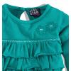 Dívčí triko s volány Girlstar zelená smaragd