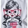 Dívčí triko dlouhý rukáv Pebblestone CUTE bílé