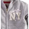 Dívčí mikina s kapucí MINOTI NEW YORK šedá
