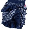 Dívčí bavlněné šaty s volánky DIRKJE LIPSY modré