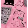 Dívčí komplet Mix´nMATCH CATS růžový