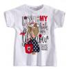 Dívčí tričko Mix´nMATCH GLAMOUR LOOK bílé