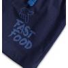 Kojenecké bavlněné šortky KNOT SO BAD FAST FOOD tmavě modré