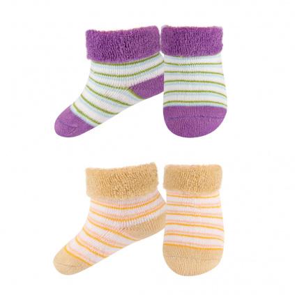 Kojenecké froté ponožky 2páry fialové