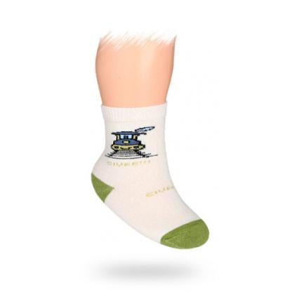 Kojenecké ponožky vzor MAŠINKA