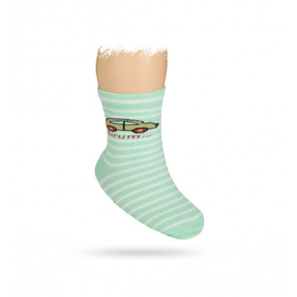 Kojenecké ponožky vzor AUTÍČKO