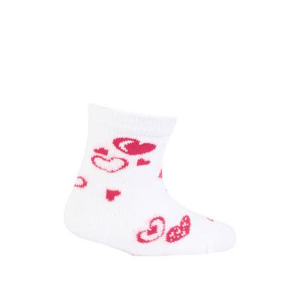 Kojenecké vzorované ponožky GATTA SRDÍČKA bílé