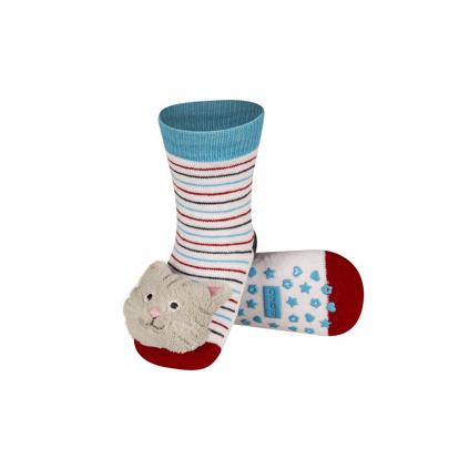 Ponožky s chrastítkem KOČKA