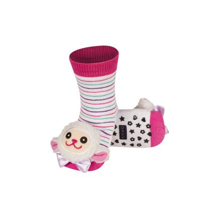 Ponožky s chrastítkem OVEČKA bílé