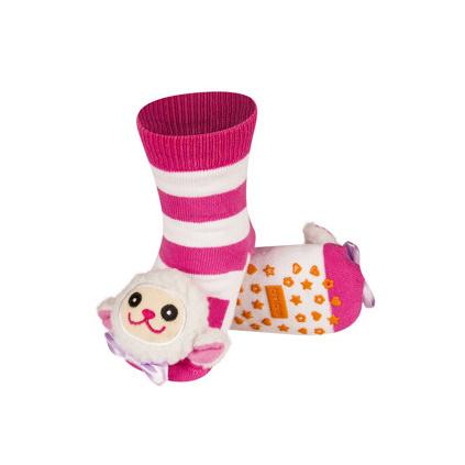 Ponožky s chrastítkem OVEČKA růžové