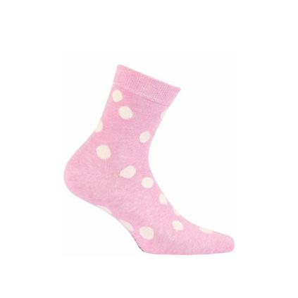 Dívčí ponožky WOLA vzor PUNTÍKY růžové