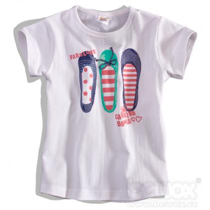 Dětské tričko DIRKJE FABULOUS bílé