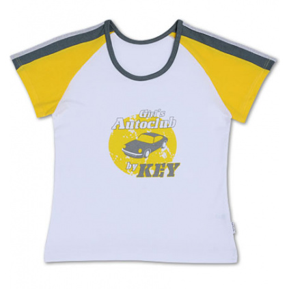 Dívčí tričko KEY bílé