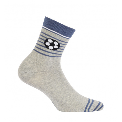Chlapecké ponožky se vzorem WOLA MÍČ šedé