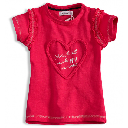 Dívčí tričko DIRKJE SRDÍČKO růžové