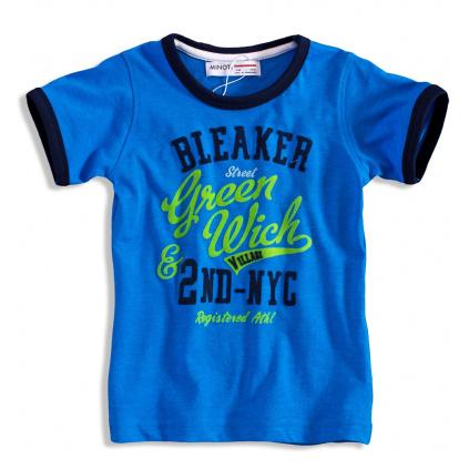 Tričko s krátkým rukávem pro kluky MINOTI GREEN modré