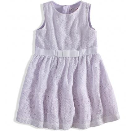 Krajkové dívčí šaty  MINOTI RAINFOREST bílé
