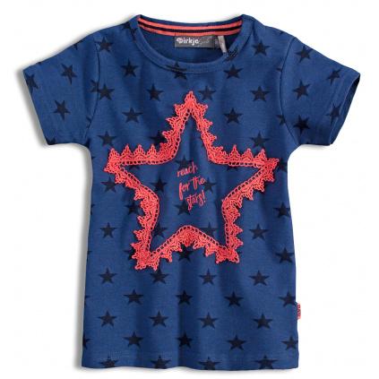 Dívčí tričko DIRKJE STARS modré