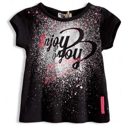 Dívčí tričko s krátkým rukávem DIRKJE ENJOY černé