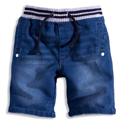 Chlapecké šortky MINOTI GREEN šedý pas