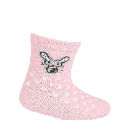 Dívčí ponožky GATTA ZAJÍČEK růžové