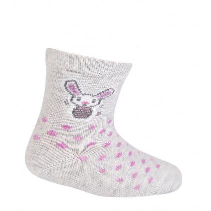 Dívčí ponožky GATTA ZAJÍČEK šedé