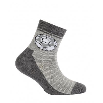 Ponožky pro kluky GATTA FOTBALOVÝ MÍČ šedé