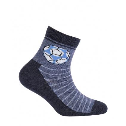 Ponožky pro kluky GATTA FOTBALOVÝ MÍČ modré