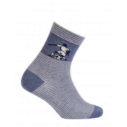 Chlapecké vzorované ponožky GATTA FOTBALISTA modré