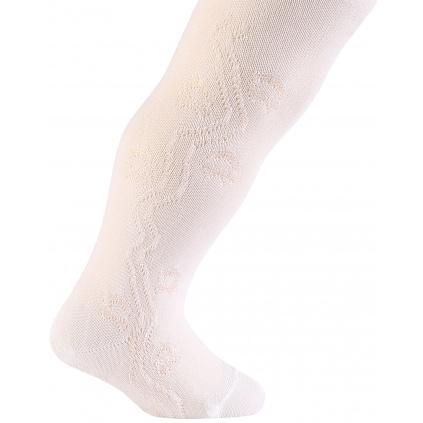 Dívčí viskozové punčocháče WOLA HVĚZDIČKY bílé