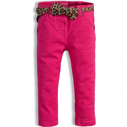 Dívčí kalhoty MINOTI PARTY tmavě růžové