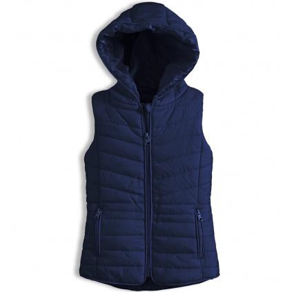 Dívčí prošívaná vesta KNOT SO BAD tmavě modrá